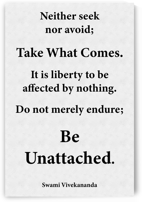 Be Unattached by Scripture on the Walls