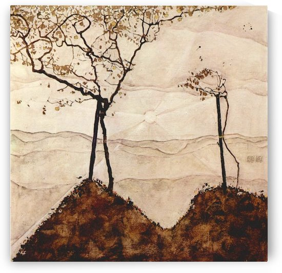 Autumn sun and trees by Schiele by Schiele