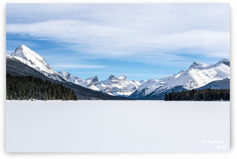 Malign Lake Frozen Mountains by The Big Picture by JD