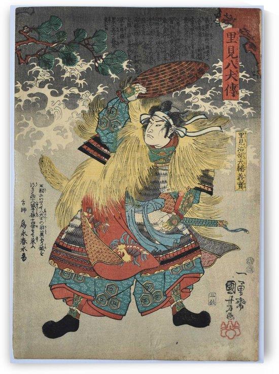 Japanese warrior by Utagawa Kuniyoshi