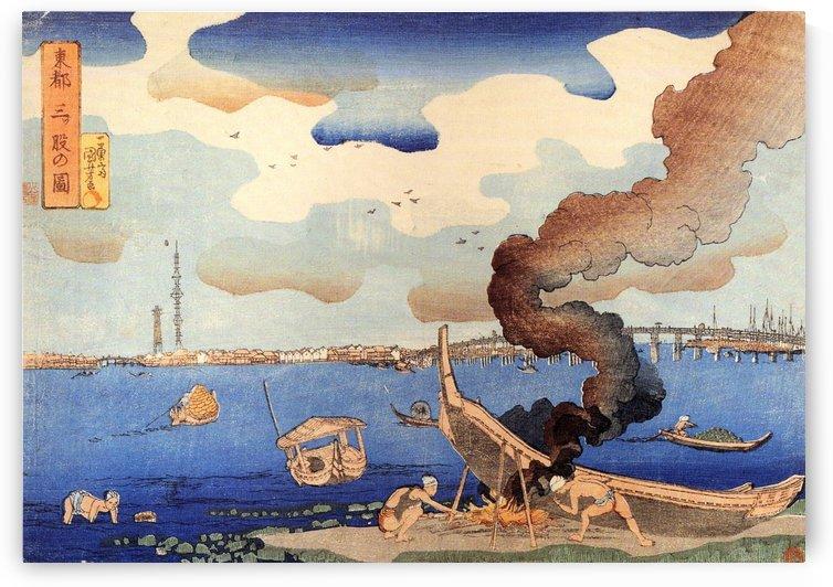 Caulking boats by Utagawa Kuniyoshi