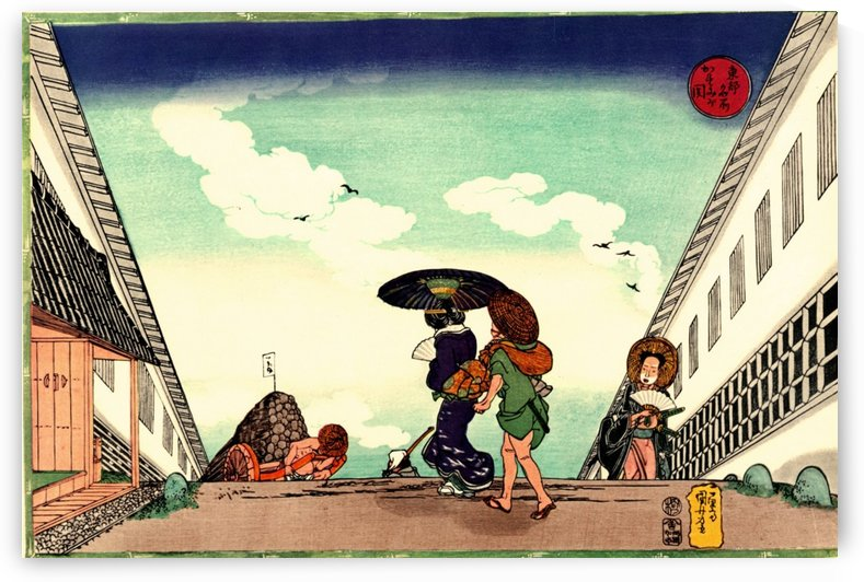 High Noon at Kasumigaseki by Utagawa Kuniyoshi