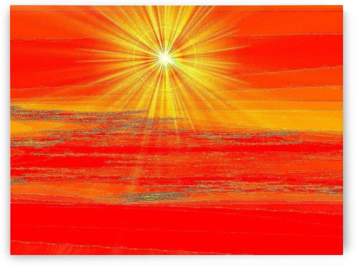 Winter Golden Sunrise 1  by Sherrie Larch