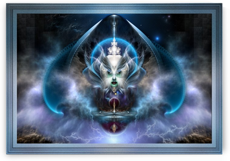Thera Of Titan The Serenity Of Time Fractal Fantasy Art by xzendor7
