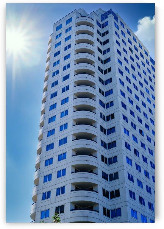 White Condo Tower by Darryl Brooks