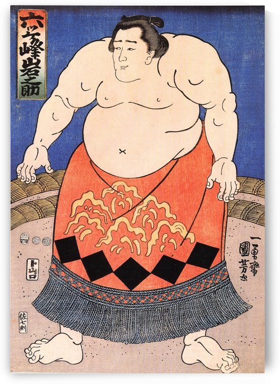 The sumo wrestler by Utagawa Kuniyoshi