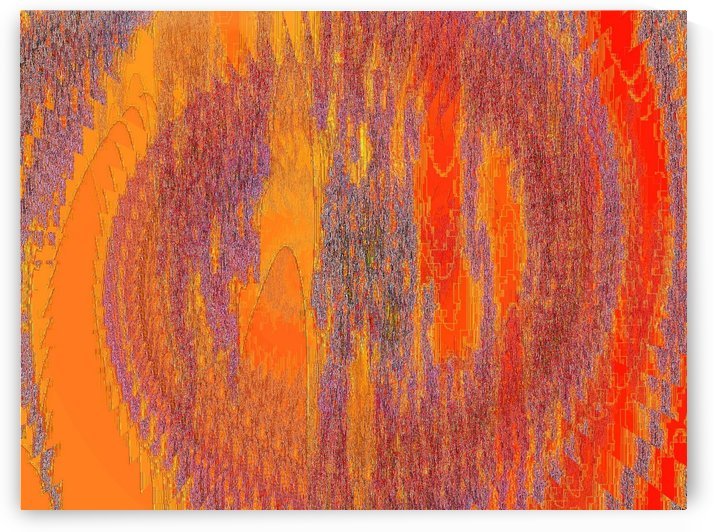 Orange Experiment 1  by Sherrie Larch