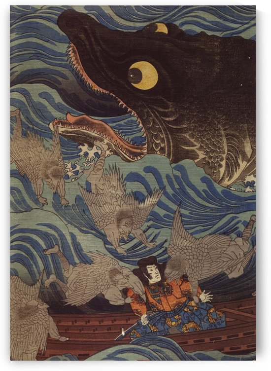 Big fish by Utagawa Kuniyoshi