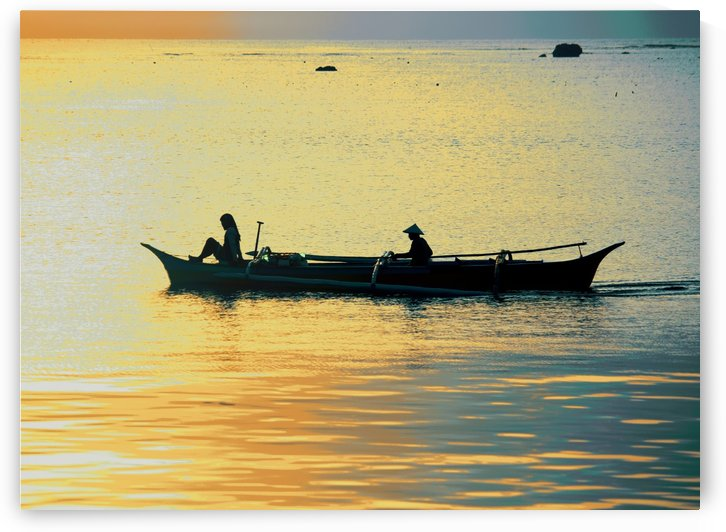 Boating at Sunrise by On da Raks