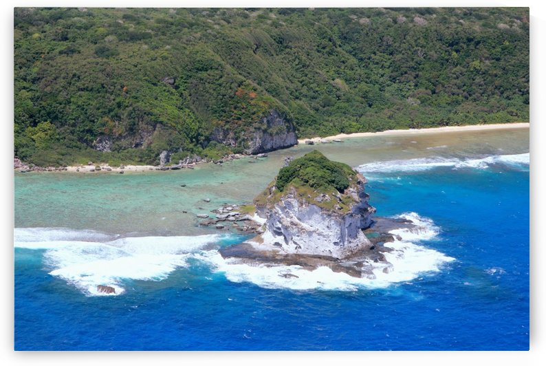 Aerial view of Bird Island Saipan by On da Raks