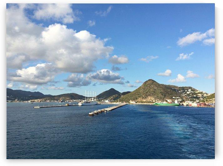 Sint Maarten waterfront by Raksy