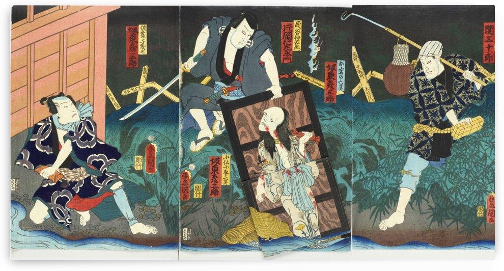Asajigahara by Utagawa Kuniyoshi