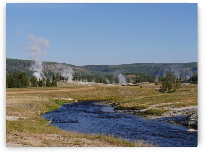 Firehole River Yellowstone National Park by On da Raks