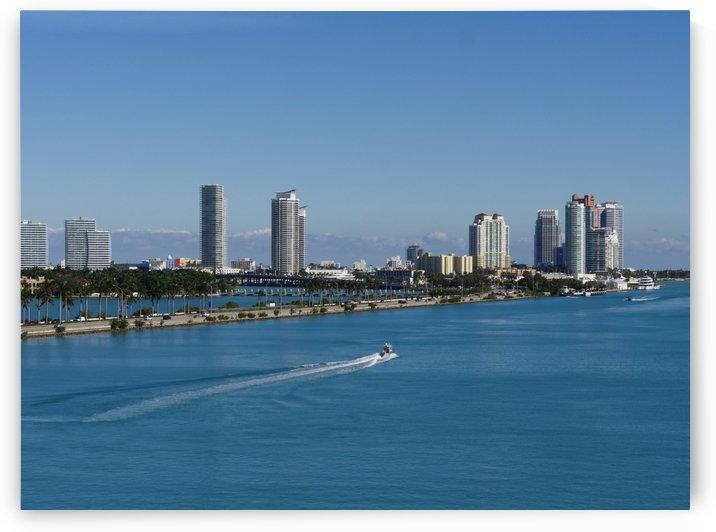 Miami Coastline Florida by Raksy