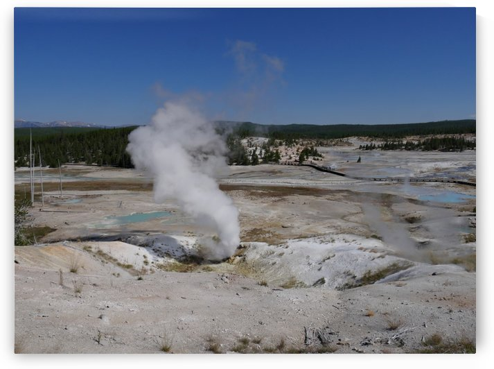 Black Growler Steam Vent, Yellowstone National Park by On da Raks