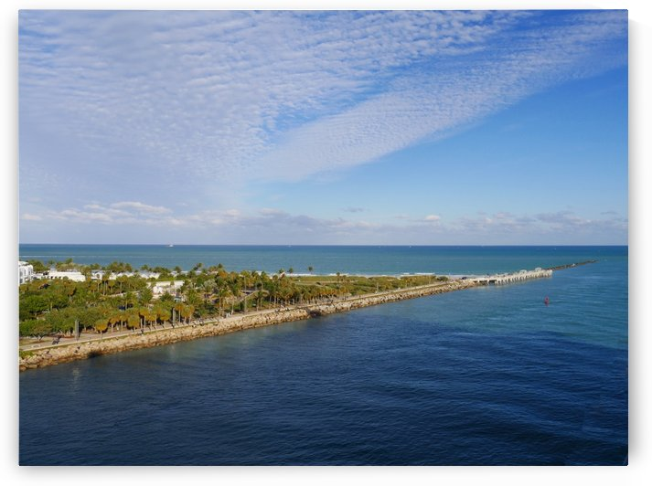 Miami Coastline View Florida  by Raksy