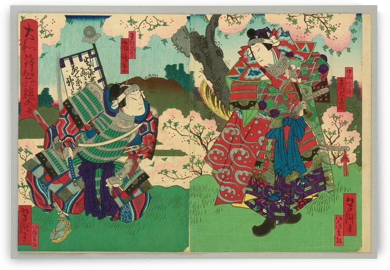Two samurai by Utagawa Kuniyoshi