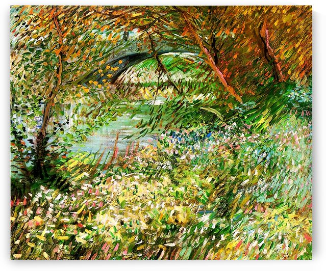 Banks of the Seine with Pont de Clichy in the Spring by Van Gogh by Van Gogh