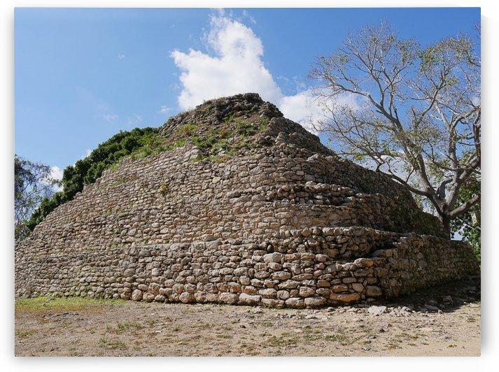 Temple Ruins Costa Maya Mexico by Raksy
