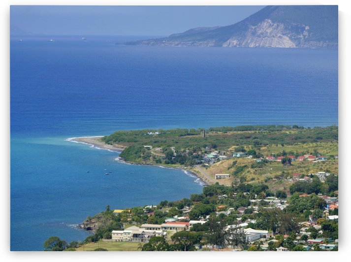 Aerial view St Kitts West indies by On da Raks