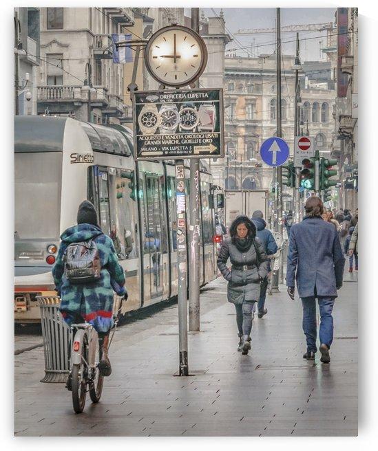 Urban Street Scene at Milan Downtown by Daniel Ferreia Leites Ciccarino