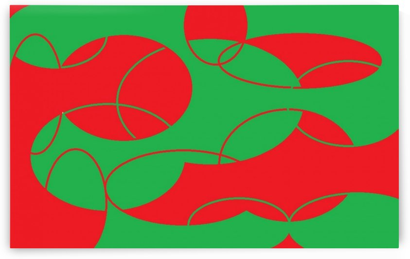Red Green In Green Red 1 by Sherrie Larch