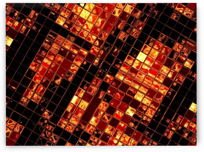 Gold Glass Tiles 1 by Sherrie Larch