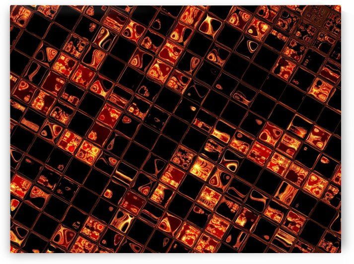 Gold Glass Tiles 3 by Sherrie Larch