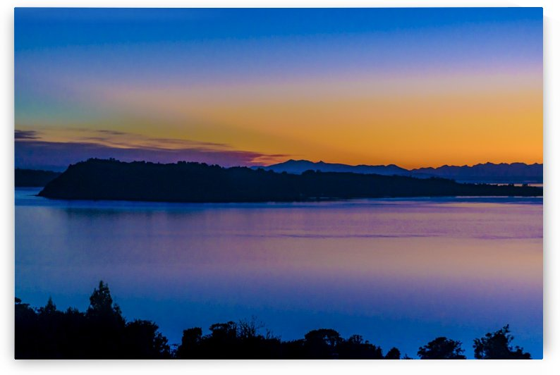 Fjords and Mountains Sunset Landscape, Chiloe Island, Chile by Daniel Ferreia Leites Ciccarino