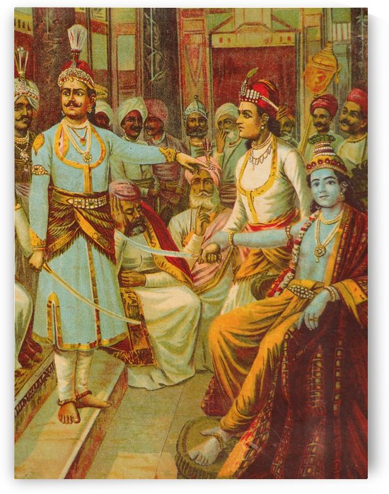 Krishna as Envoy by Raja Ravi Varma