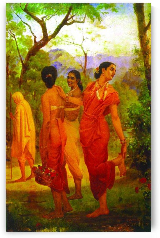 Looks of love by Raja Ravi Varma