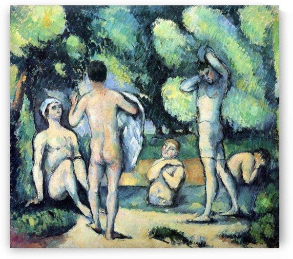 Bathers 3 by Cezanne by Cezanne