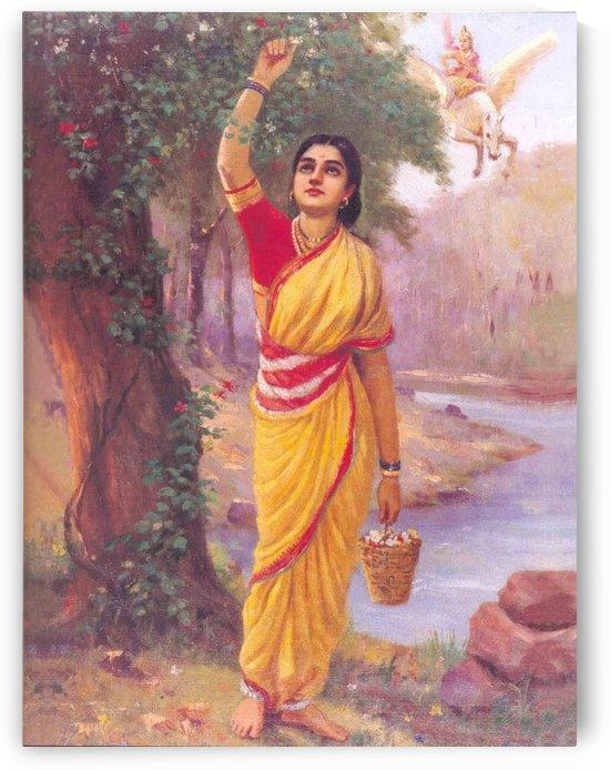 Krishna Yashoda by Raja Ravi Varma