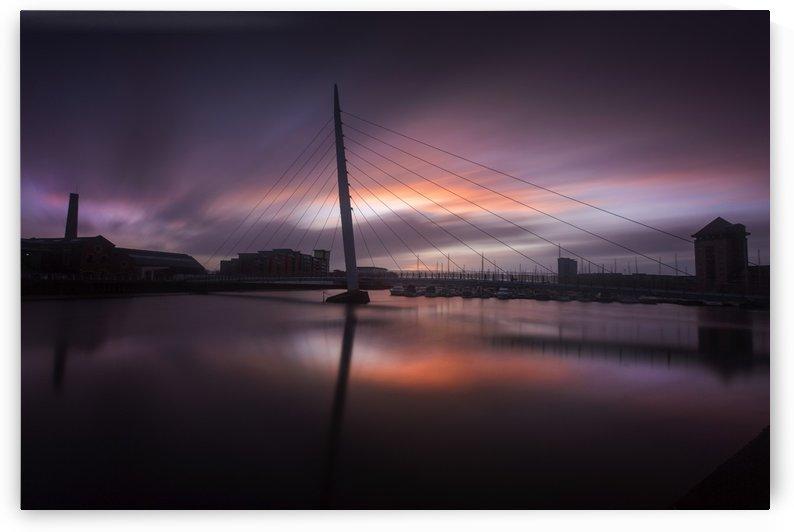 Sunrise at Swansea Sail Bridge by Leighton Collins