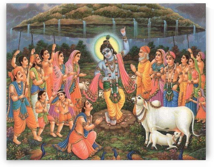 People praying by Raja Ravi Varma