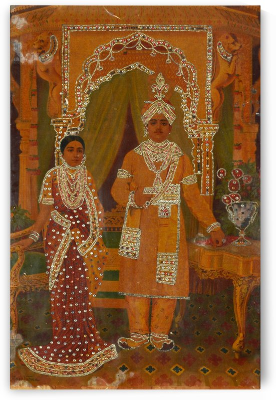 Married couple by Raja Ravi Varma