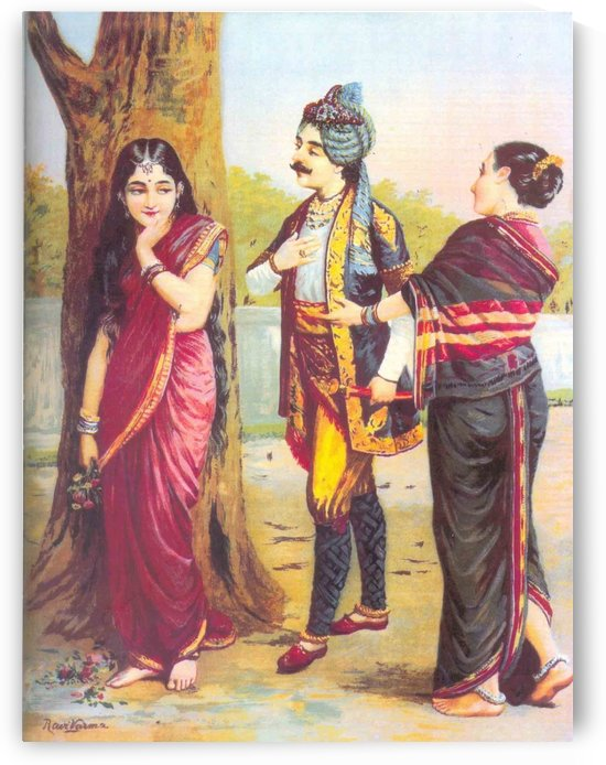 Madalasa And Rutudwaj by Raja Ravi Varma