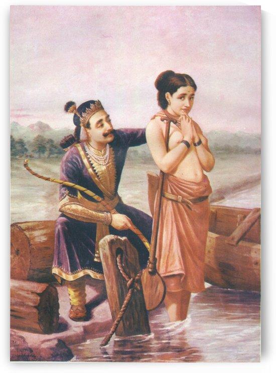Santanu e la dea Ganga by Raja Ravi Varma
