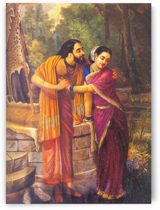 Arjuna Subhadra by Raja Ravi Varma