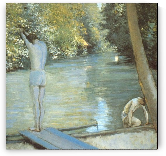 Bathers by Cailiebotte by Caillebotte