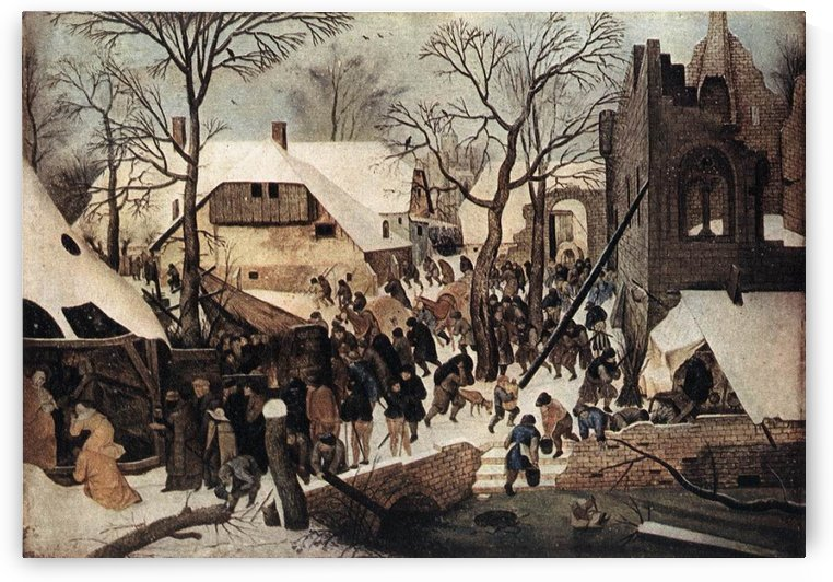 Winter arrived in town by Pieter Brueghel the Younger
