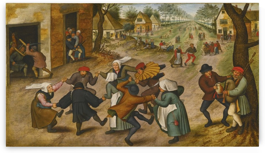 Life in a village by Pieter Brueghel the Younger
