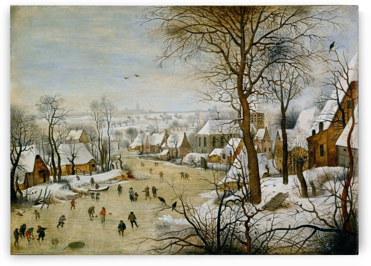 Winter Landscape with a Bird-trap by Pieter Brueghel the Younger