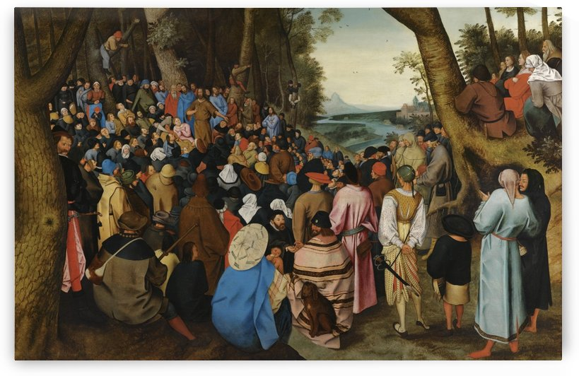 Saint John the Baptist Preaching to the Masses in the Wilderness by Pieter Brueghel the Younger