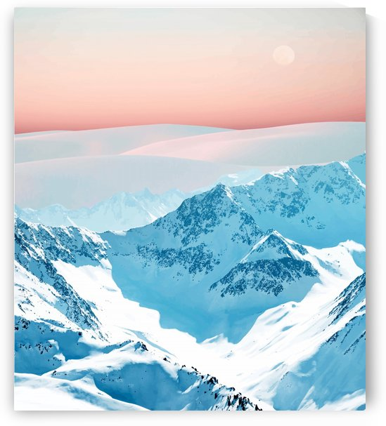 Snow & Blush Horizon by 83 Oranges