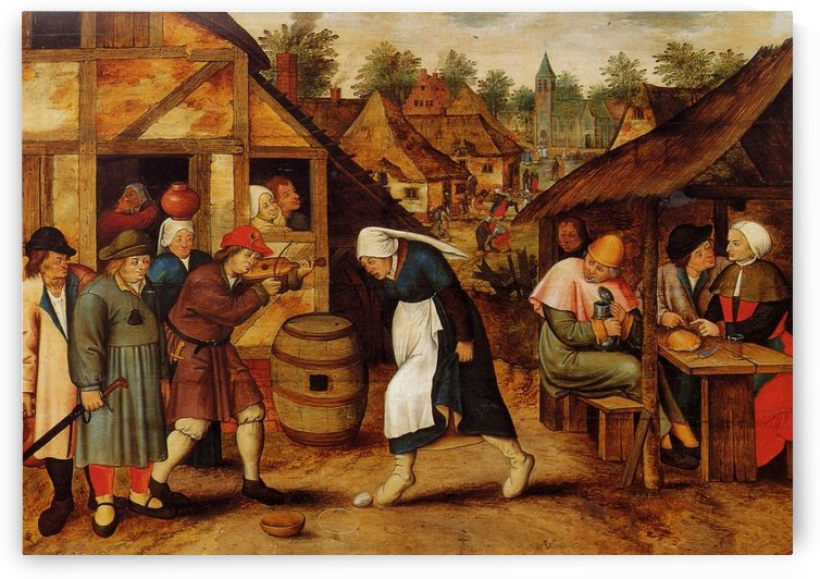 The Athenaeum - The Egg Dance by Pieter Brueghel the Younger