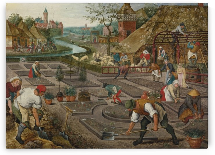 Works outside town by Pieter Brueghel the Younger