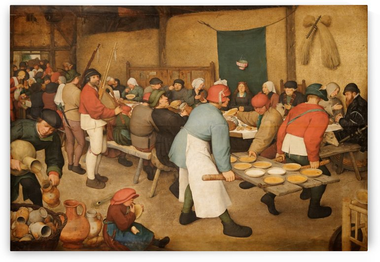 Le repas de noce by Pieter Brueghel the Younger