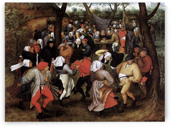 Peasant Wedding Dance by Pieter Brueghel the Younger