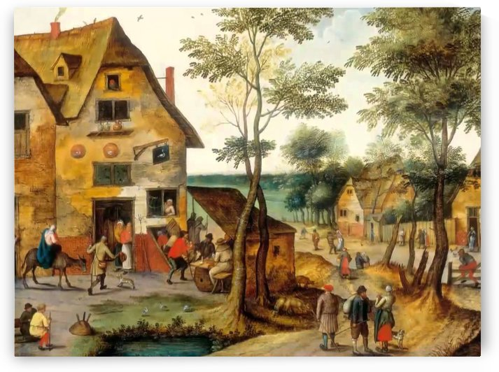 Tavern near road by Pieter Brueghel the Younger